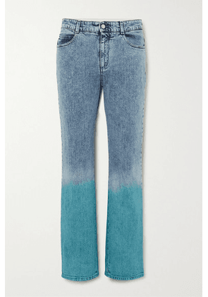 Stella McCartney - Dégradé Mid-rise Straight-leg Jeans - Blue