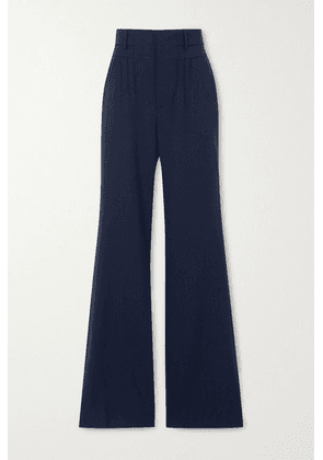 Altuzarra - Zeke Grain De Poudre Wool-blend Flared Pants - Navy