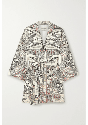 Etro - Belted Paisley-print Wool And Silk-blend Twill Jacket - Ivory