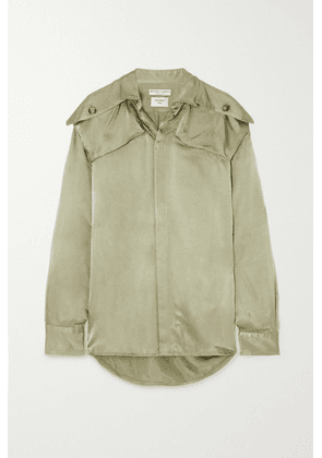 Bottega Veneta - Satin-twill Shirt - Green