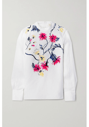 Chloé - Embroidered Linen Blouse - Ivory