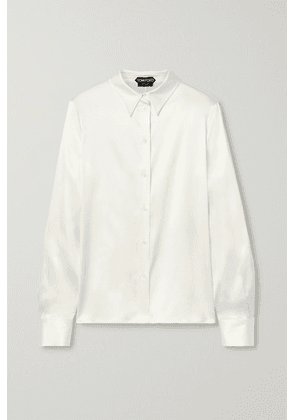 TOM FORD - Silk-blend Satin Shirt - Ivory