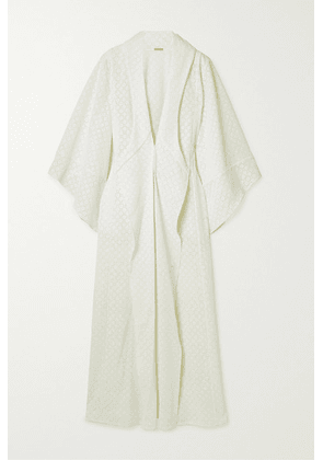 Johanna Ortiz - Sea Gull Crocheted Cotton Kimono - Ecru