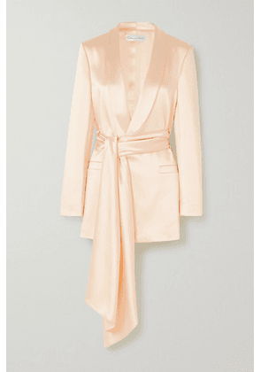 Oscar de la Renta - Draped Satin Jacket - Ivory