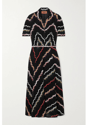 Missoni - Crochet-knit Cotton-blend Midi Dress - Black