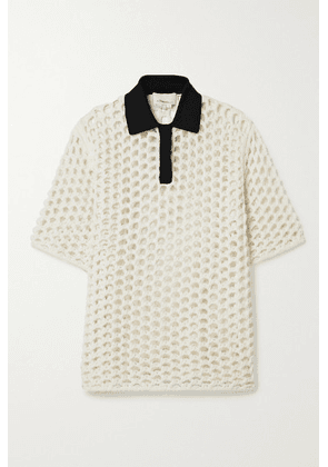 3.1 Phillip Lim - Jersey-trimmed Macramé Wool Top - White