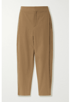 Chloé - Cropped Stretch-twill Tapered Pants - Beige