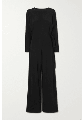 Norma Kamali - Belted Stretch-jersey Jumpsuit - Black