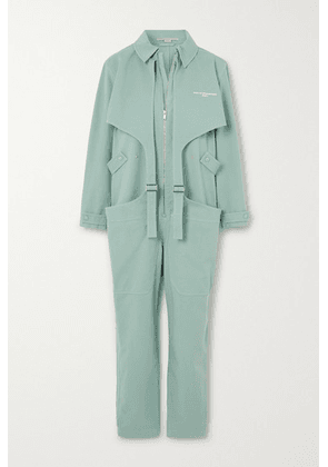 Stella McCartney - Buckled Printed Stretch-cotton Jumpsuit - Mint