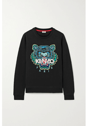 KENZO - Embroidered Cotton-jersey Sweatshirt - Black