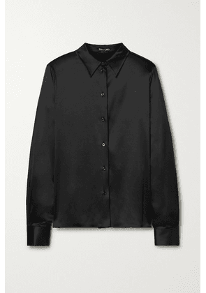 TOM FORD - Silk-blend Satin Shirt - Black