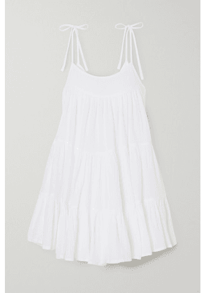 Honorine - Peri Tiered Crinkled Cotton-gauze Mini Dress - White