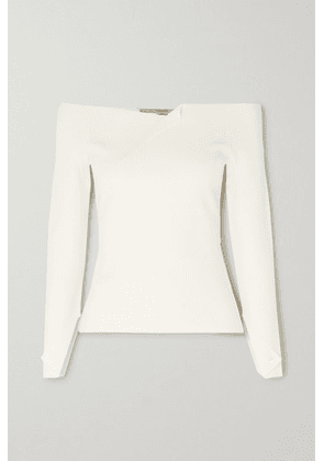 Roland Mouret - Angeles Off-the-shoulder Cady Top - White