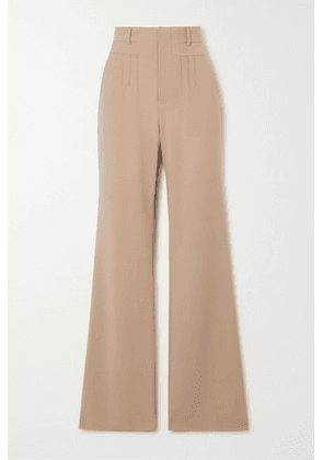 Altuzarra - Zeke Grain De Poudre Wool-blend Flared Pants - Beige