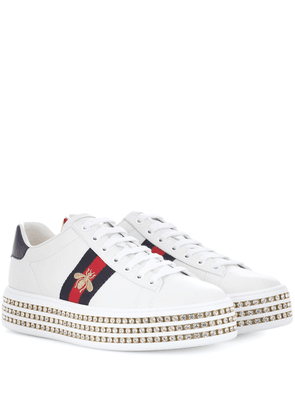 Ace platform leather sneakers