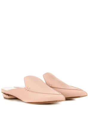 Beya leather mules
