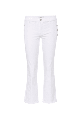Zion mid-rise cropped bootcut jeans