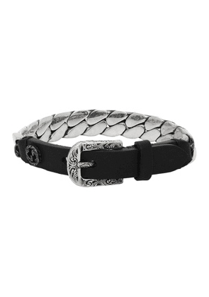 Gucci Black and Silver Small Gucci Garden Bracelet