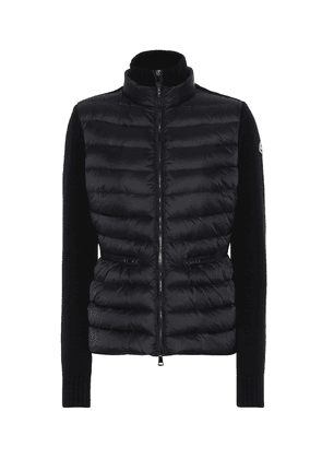 Wool and cashmere down jacket