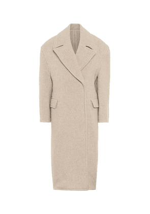 Wool-blend double-breasted coat