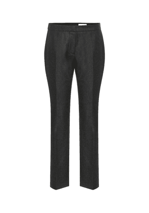 High-rise wool pants