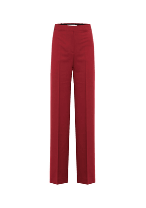 High-rise twill straight pants