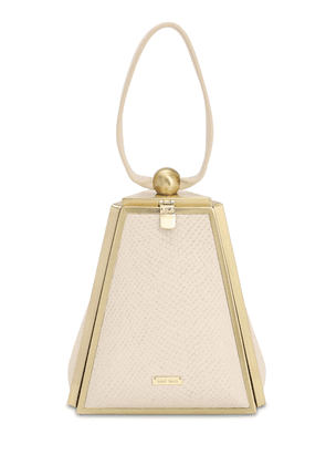 Trina Lizard Embossed Leather Bag