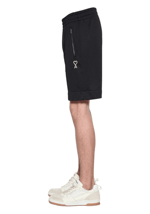 Logo Embroidered Cotton Blend Shorts