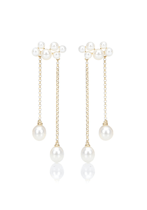 Wuthering Heights 14kt gold and pearl earrings