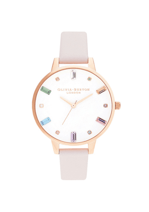 Rainbow Blossom Demi Dial Watch - Rose Gold