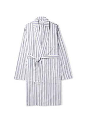 Oliver Spencer Loungewear - Striped Organic Cotton Robe - Blue