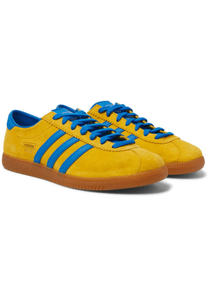 adidas Originals - Malmo Leather-trimmed Suede Sneakers - Yellow