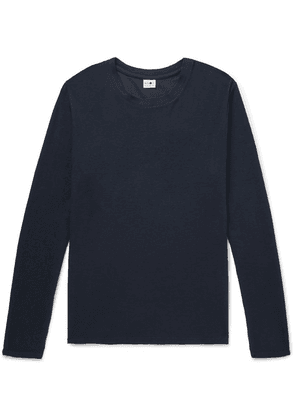 NN07 - Clive Waffle-knit Cotton And Modal-blend T-shirt - Navy