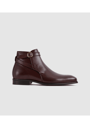 Reiss Keeper - Leather Jodphur Boots in Bordeaux, Mens, Size 7
