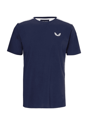 CASTORE - Leo Mesh-panelled Stretch-jersey T-shirt - Navy