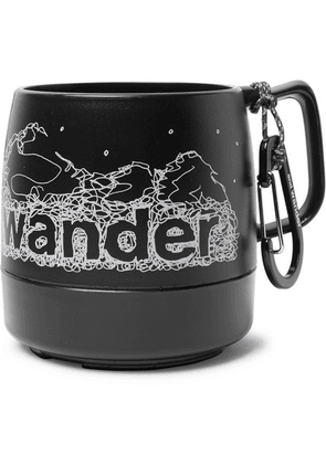 And Wander - Printed Plastic Mug - Black