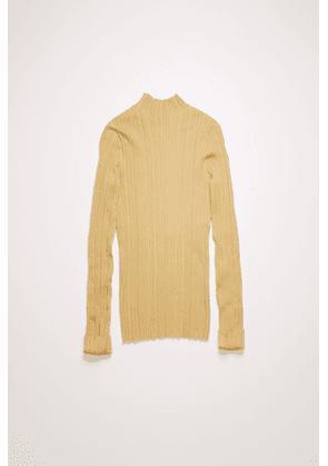 Acne Studios FN-WN-KNIT000197 Sand beige  Mock-neck ribbed sweater