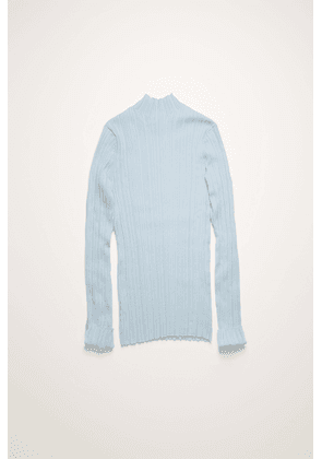 Acne Studios FN-WN-KNIT000197 Ice blue  Mock-neck ribbed sweater