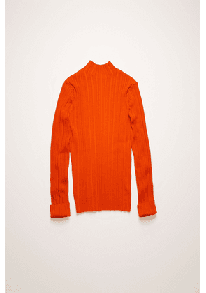 Acne Studios FN-WN-KNIT000197 Poppy Red  Mock-neck ribbed sweater