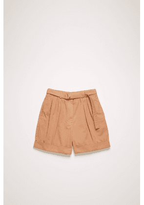 Acne Studios FN-WN-SHOR000006 Old pink  Cotton twill shorts