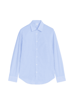 Banker Stripe Slim Shirt - Blue