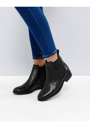 Office Bramble Leather Chelsea Ankle Boots-Black