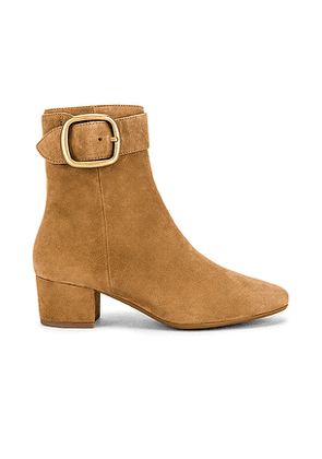 Coach 1941 Cassandra Buckle Bootie in Taupe. Size 8.