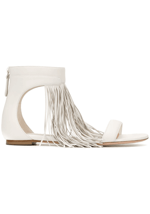 Leather Sandals With Franges