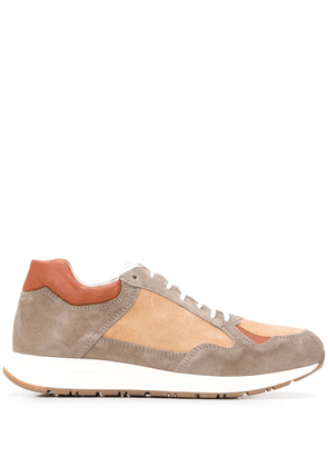 Eleventy panelled lace-up sneakers - NEUTRALS