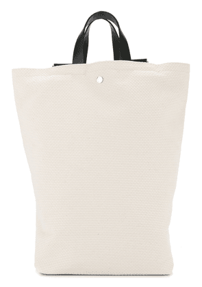 Cabas tote style backpack - White