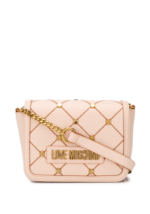 Love Moschino quilted cross body bag - NEUTRALS