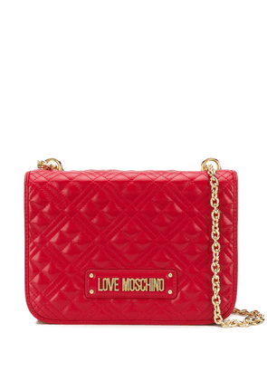 Love Moschino quilted flap shoulder bag - Red