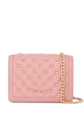 Love Moschino quilted crossbody bag - PINK