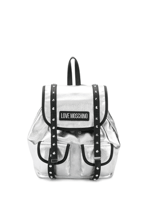 Love Moschino studded backpack - SILVER